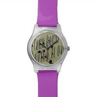 Lawn Bowls, Bring It On, Ladies Purple May Watch. Wrist Watch