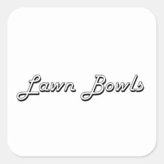 Lawn Bowls Classic Retro Design Square Sticker