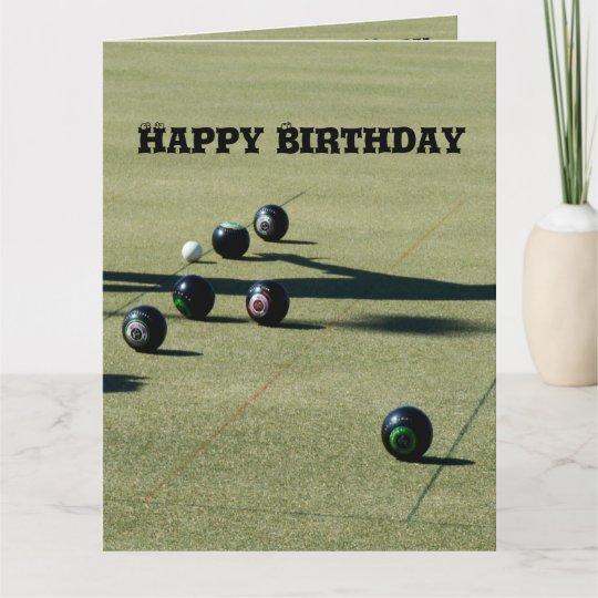 Green Lawn Bowls Birthday Card Zazzle
