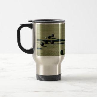 Lawn Bowls Close Call, Travel Mug