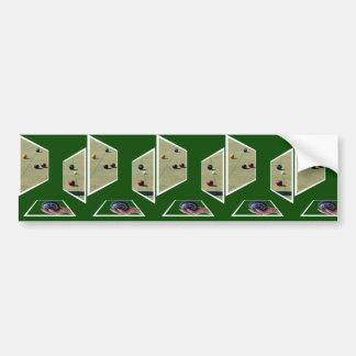 Lawn Bowls, Dimensional Art, Car Bumper Sticker. Bumper Sticker