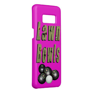 Lawn Bowls Dimensional Logo And Bowls On Pink, Case-Mate Samsung Galaxy S8 Case
