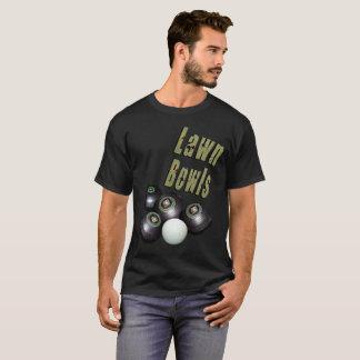 Lawn Bowls Dimensional Logo And Bowls, T-Shirt