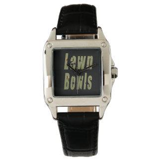 Lawn Bowls Dimensional Logo Ladies Black  Watch