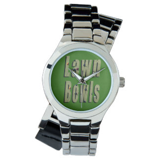 Lawn Bowls Dimensional Logo Ladies Silver  Watch