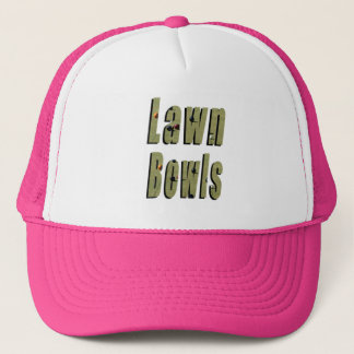 Lawn Bowls Dimensional Logo, Pink Truckers Cap