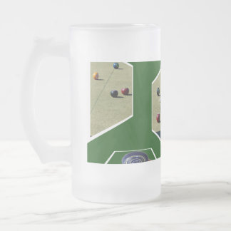 Lawn_Bowls_Dimensions_Big_Frosted_Beer_Mug. Frosted Glass Beer Mug
