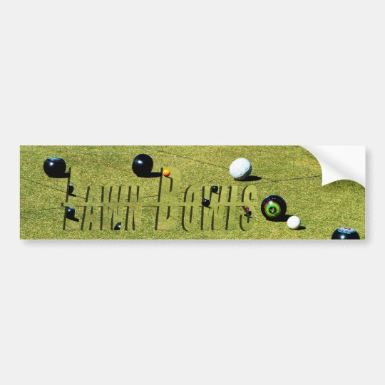 Lawn Bowls Game And Logo, Bumper Sticker