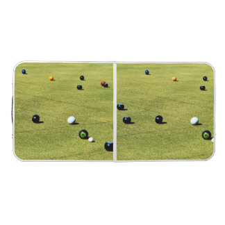 Lawn Bowls Game, Folding Aluminum Folding Table. Beer Pong Table