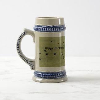 Lawn_Bowls,_Happy Birthday_Beer_Stein_Mug Beer Stein