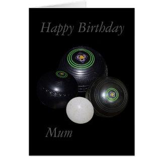 Lawn Bowls, Happy Birthday Mum Small Card