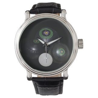 Lawn_Bowls,_Lets_Play, Mens_Leather Vintage Watch. Watch