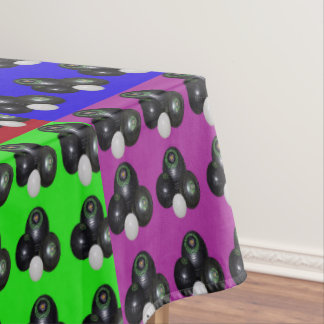 Lawn Bowls Multi Coloured Patchwork Pattern, Tablecloth