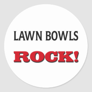 Lawn Bowls Rock Round Sticker