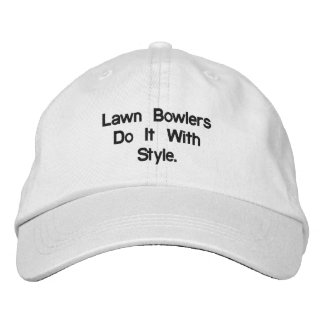 Lawn_Bowls_White_Adjustable_Cap. Embroidered Cap