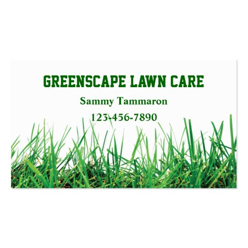 Lawn care and landscaping zazzle for Lawn care business cards templates free