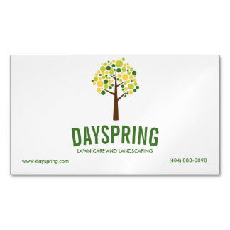 Lawn Care and Landscaping Magnetic Business Card Magnetic Business Cards