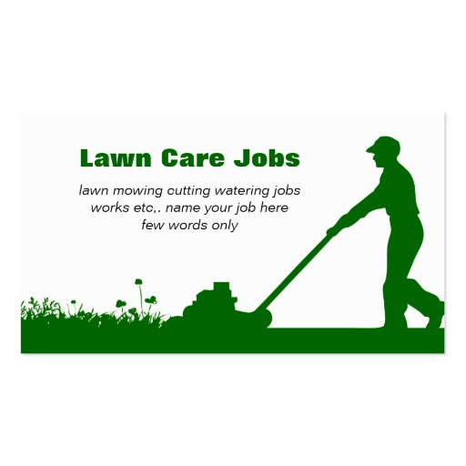 Collections of mowing business cards for Lawn treatment companies