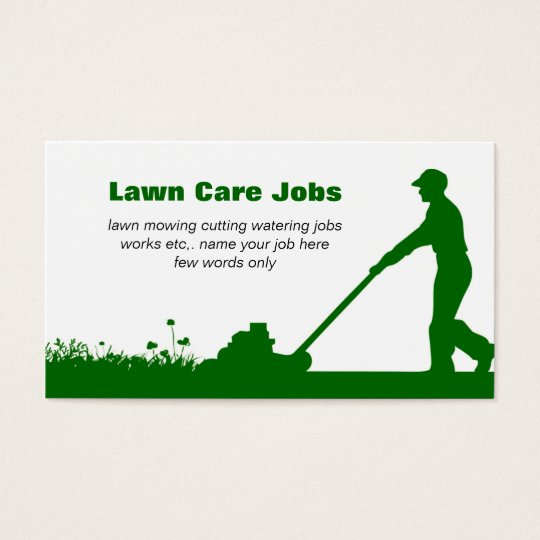 Lawn Care Business Card with Darker Green Colours