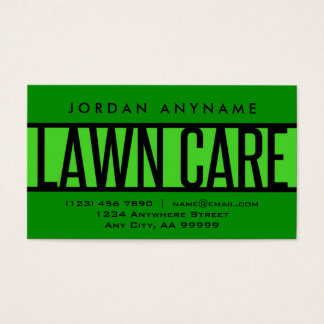 Lawn Care Green Business Card