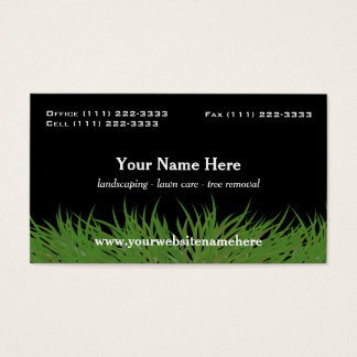 Lawn Care Green Grass Business Card