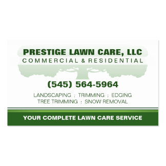 Lawn Care Green & White Custom Template Pack Of Standard Business Cards