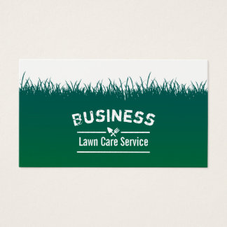 Lawn Care & Landscaping Green Grass Background Business Card