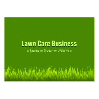 Lawn Care Landscaping - Pure Green Grass Style Large Business Cards (Pack Of 100)