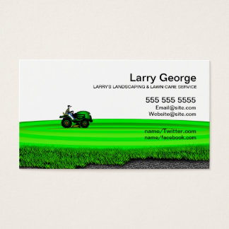 Lawn care/Landscaping Service Business Card