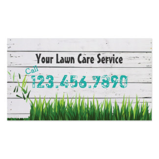 Lawn Care & Landscaping Service Pack Of Standard Business Cards