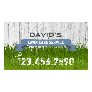 Lawn Care & Landscaping Service Professional Pack Of Standard Business Cards