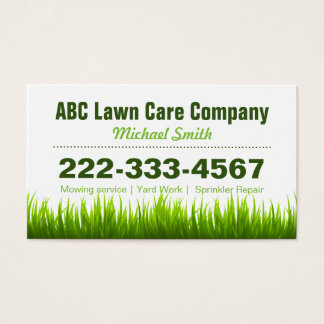 Lawn Care Landscaping Services Appointment Card