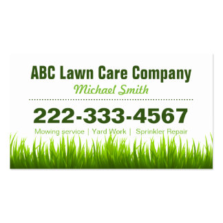 Lawn Care Landscaping Services Appointment Card Pack Of Standard Business Cards