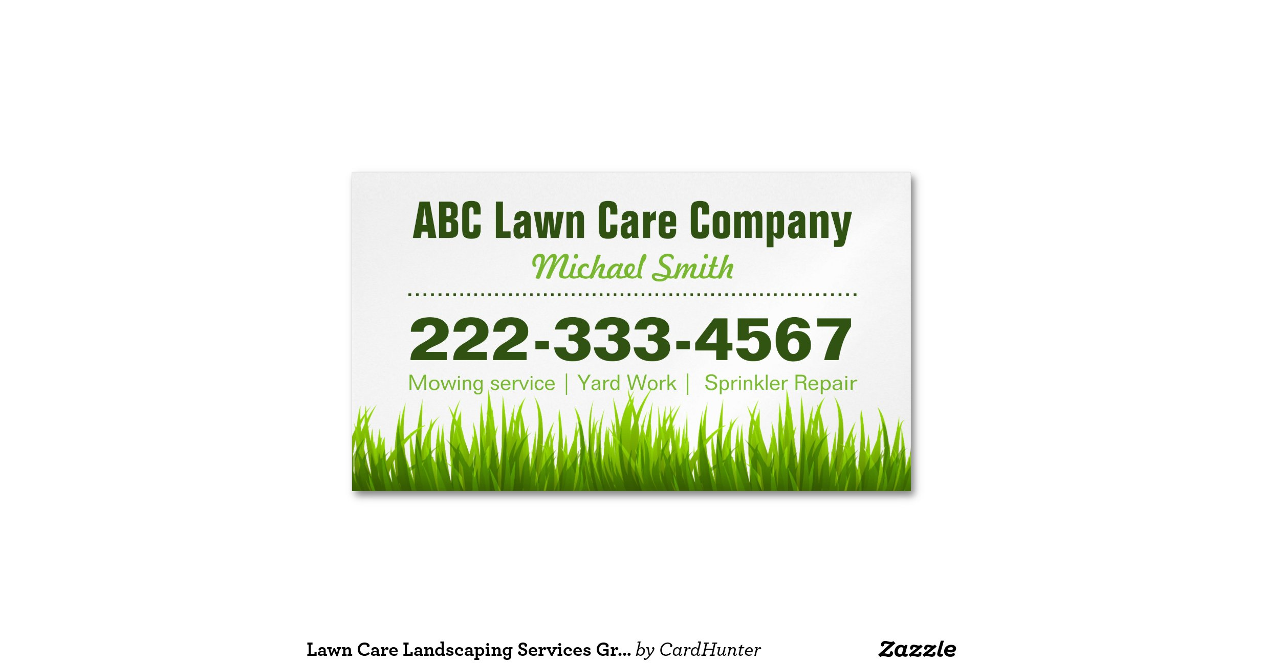Green Grass Lawn Care Nebraska : Lawn care landscaping services green grass style magnetic business