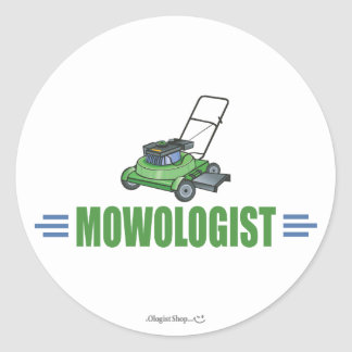 Lawn Care Mowing Grass Lawns Landscaping Yards Round Sticker
