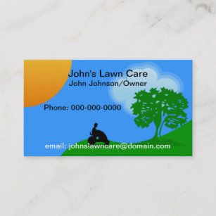 Lawn care services business cards business card printing zazzle uk lawn care service business card reheart Gallery