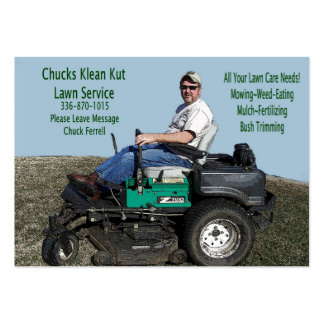 Lawn Care Service Pack Of Chubby Business Cards