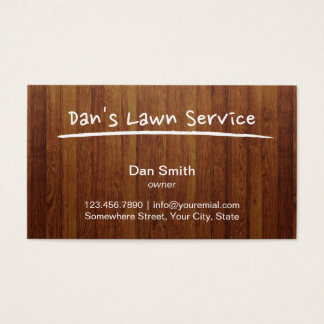 Lawn Care Service Wood Background Professional