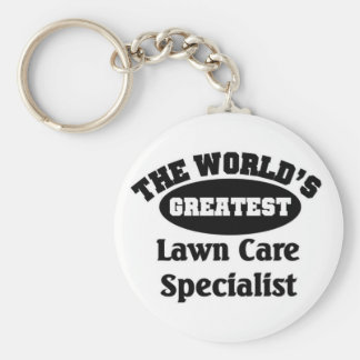 Lawn Care Specialist Basic Round Button Key Ring
