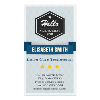 Lawn Care Technician - Creative Retro Stylish Pack Of Standard Business Cards