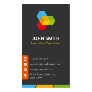 Lawn Care Technician - Modern Multicolor Pack Of Standard Business Cards