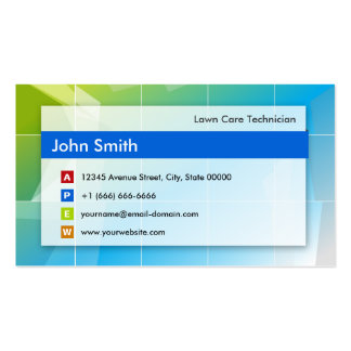 Lawn Care Technician - Modern Multipurpose Business Card
