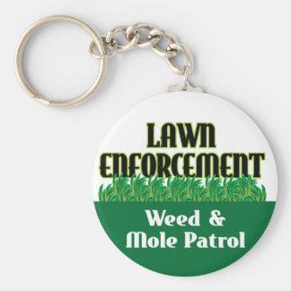 Lawn Enforcement Basic Round Button Key Ring