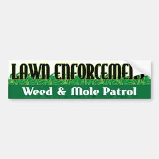 Lawn Enforcement Bumper Sticker