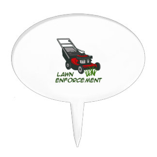LAWN ENFORCEMENT CAKE TOPPERS