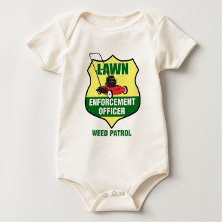 Lawn Enforcement Officer Baby Bodysuit