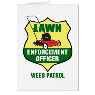 Lawn Enforcement Officer Card