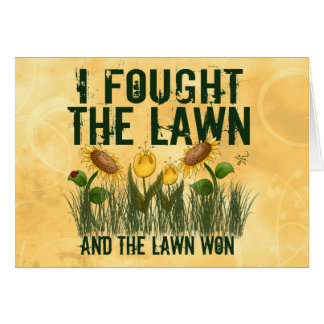 Lawn Fighter Greeting Card