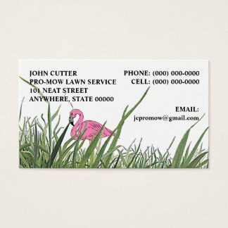 LAWN FLAMINGO IN TALL GRASS ~ BUSINESS CARDS! BUSINESS CARD