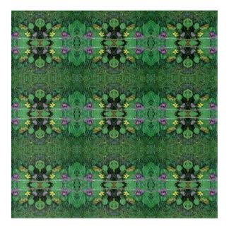 Lawn Flower Dapple crop B Fractal Acrylic Print